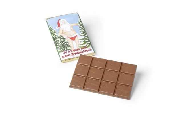 Weihnachtsschokolade Lustiger Weihnachtsmann